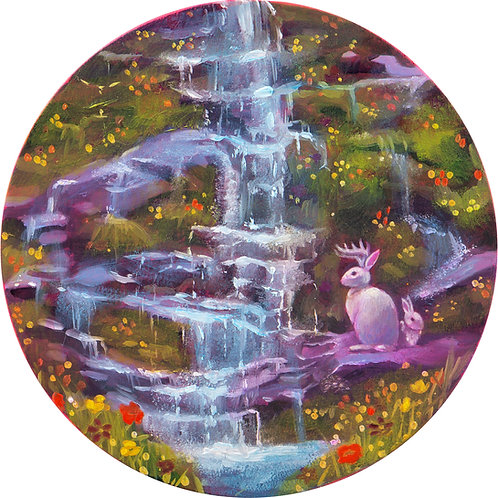 Jackalope Waterfall Print