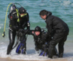 Rescue scuba diving course