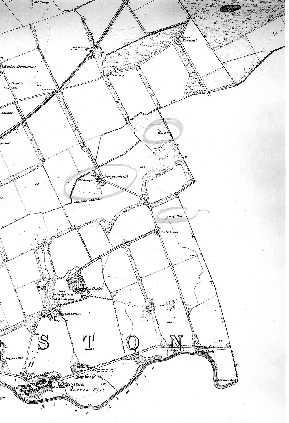 OS Map of the area 1856