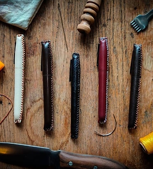 Leather Sharpie Case