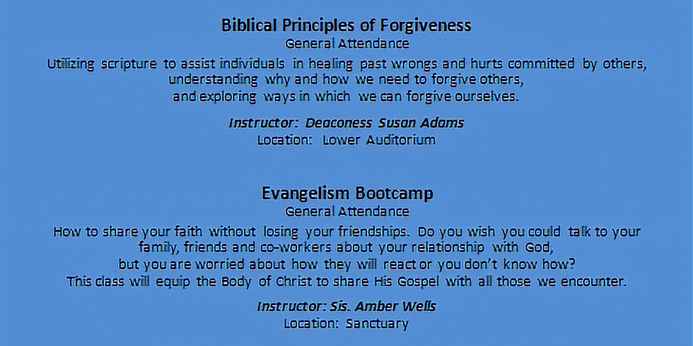 Christian Life Academy - June Classes