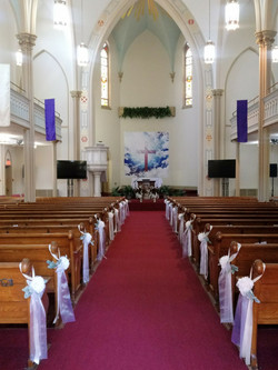 Cathedral decorated for wedding2
