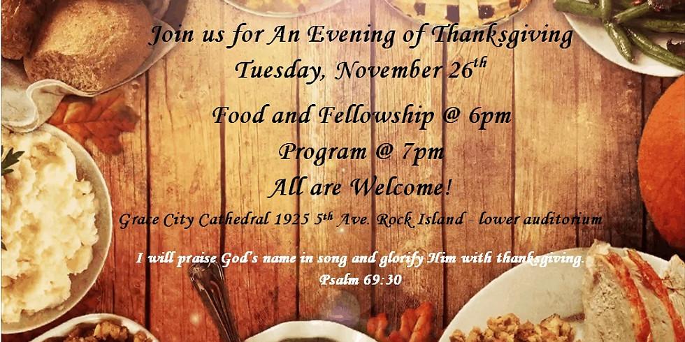 An Evening of Thanksgiving