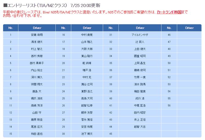 【8/13 四国】 特別戦、エントリー定員まで残り「12席」となりました!