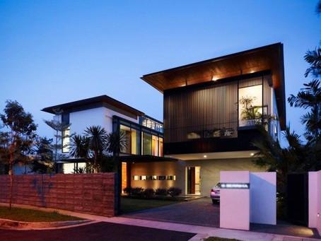 Cantiknya 6 Desain Rumah Modern Tropis dengan Unsur Kayu Ini