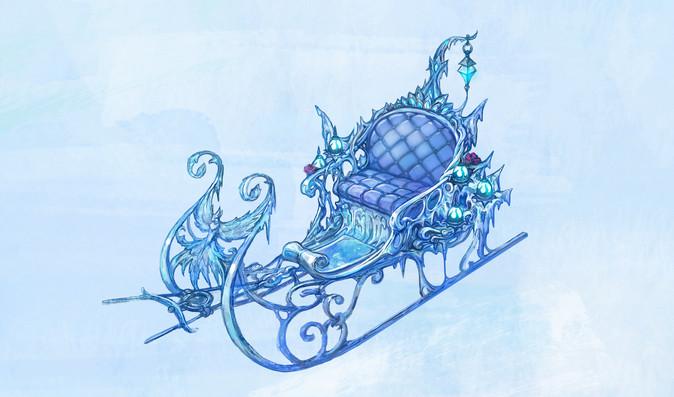 Winter Queen's sleigh
