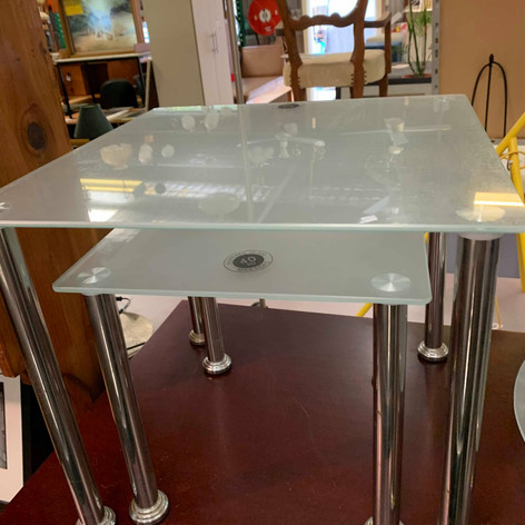 Square Glass Nesting Tables $30