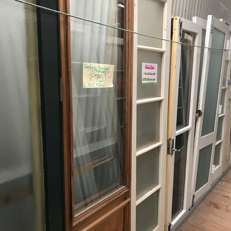 There are a range of french doors available in store
