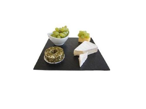 schieferplatten deko schweiz, Schiefer-Servierplatte Quadrat