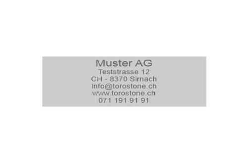 Textplatte Trodat Printy 4925 - Textstempel - 82 x 25 mm - 6 Zeilen