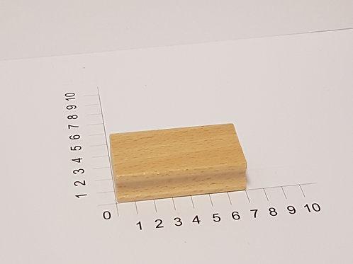 """Holzstempel """"Schulstempel"""" 40 x 70 mm"""