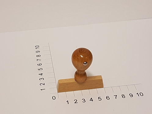 Holzstempel mit Zapfen 10 x 60 mm