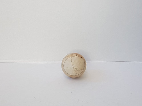 Wasserlaufende Natursteinkugel Holzoptik 50 mm Ø
