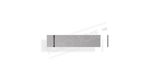 ESAG 53.5 x 12 x 0.8 Kunststoff silber Klingelschild