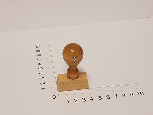 Holzstempel mit Zapfen 20 x 40 mm