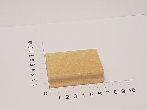 """Holzstempel """"Schulstempel"""" 50 x 70 mm"""