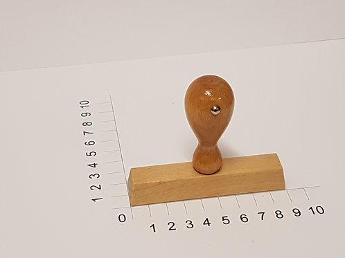 Holzstempel mit Zapfen 20 x 90 mm