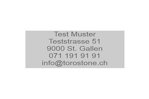 Textplatte Trodat Printy 4913 - Textstempel - 58 x 22 mm - 5 Zeilen