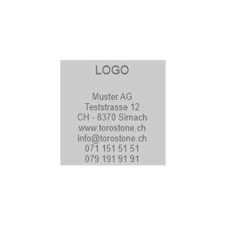 Textplatte Trodat Printy 4924 - Textstempel - 40 x 40 mm - 8 Zeilen