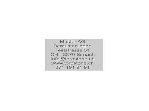 Textplatte Trodat Printy 4928 - Textstempel - 60 x 33 mm - 7 Zeilen