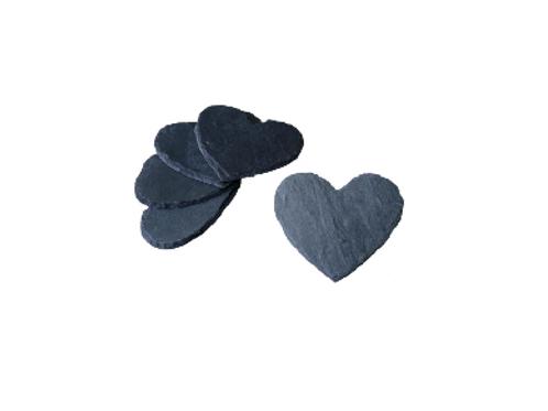 Schiefer-Herz 5er Set 12cm x 10cm ohne Gravur