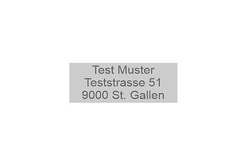 Textplatte Trodat Printy 4911 - Textstempel - 38 x 14 mm - 3 Zeilen