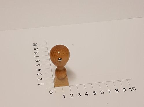 Holzstempel mit Zapfen 10 x 20 mm