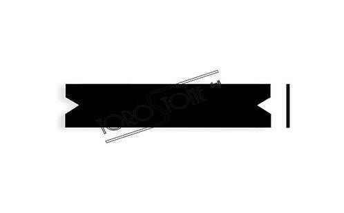 Renz 102 x 21.4 x 0.8 Briefkastenschild Kunststoff schwarz