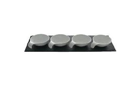 Schieferplatte Deko, Schieferplatte für Dip-Schalen