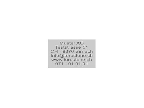 Textplatte Trodat Printy 4929 - Textstempel - 50 x 30 mm - 6 Zeilen