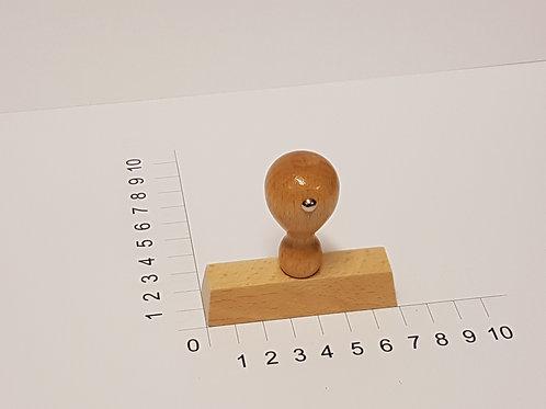 Holzstempel mit Zapfen 20 x 70 mm