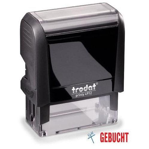 Stempel GEBUCHT 4912 Office Printy von Trodat