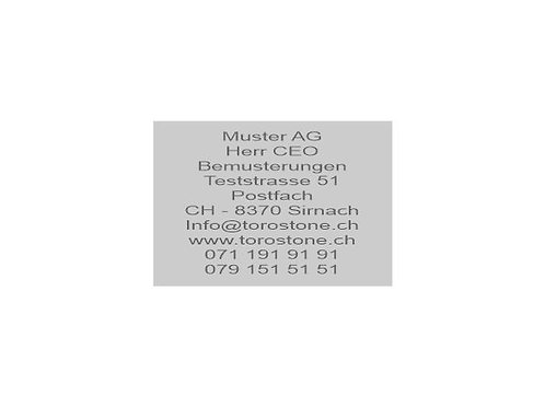 Textplatte Trodat Professional 5208 - Textstempel - 68 x 47 mm - 10 Zeilen