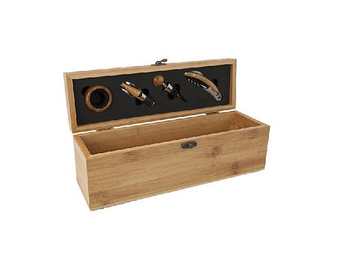 Weinaccessoire Kiste aus Bambus