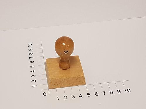Holzstempel mit Zapfen 50 x 50 mm