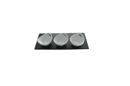Schieferplatte für Dip-Schalen