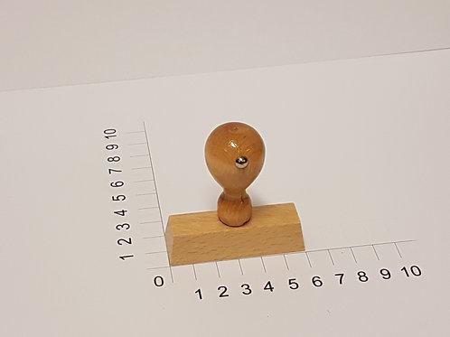 Holzstempel mit Zapfen 20 x 60 mm
