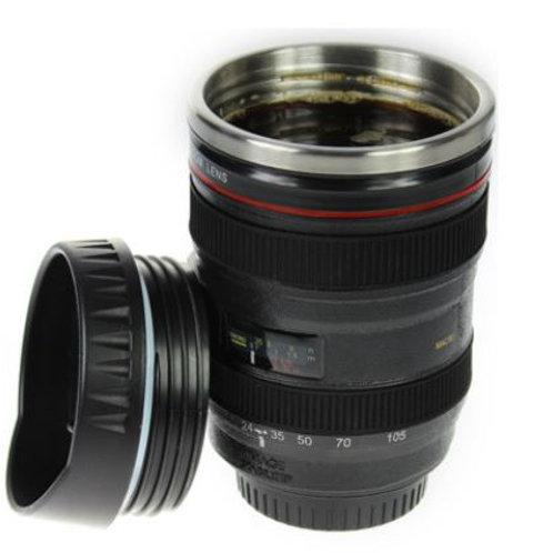 Thermo Kaffeebecher - Kameraobjektiv