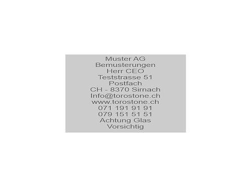 Textplatte Trodat Professional 5211 - Textstempel - 85 x 55 mm - 12 Zeilen