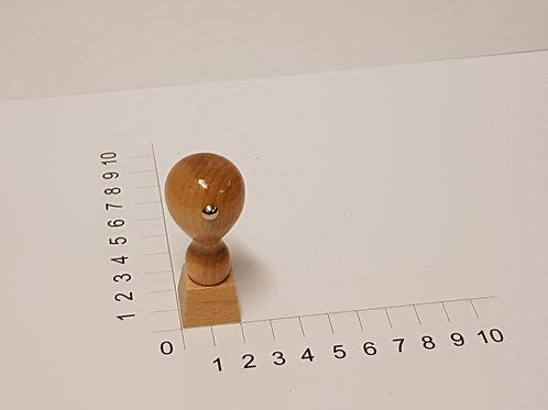 Holzstempel mit Zapfen 20 x 20 mm
