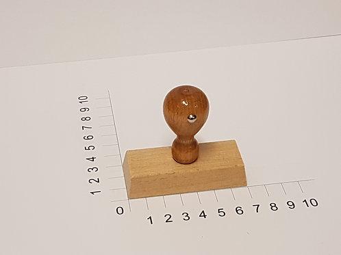 Holzstempel mit Zapfen 30 x 70 mm