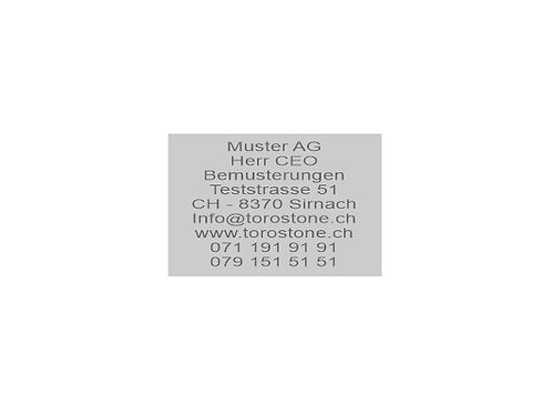 Textplatte Trodat Professional 5207 - Textstempel - 60 x 40 mm - 9 Zeilen