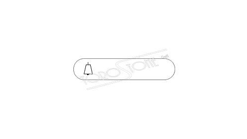 Klingelschild Gfeller 55 x 11.5 Kunststoff weiss mit Klingel selbstklebend