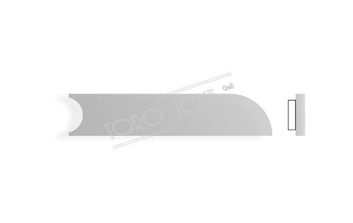 MarcMetal 94/96-3 97 x 20 x 0.8 Kunststoff silber Briefkastenschild selbstklebend