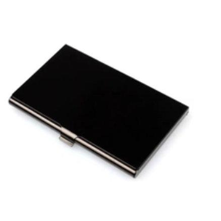 Visitenkartenbox mit Gravur schwarz