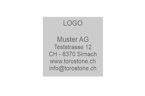Textplatte Trodat Printy 4923 - Textstempel - 30 x 30 mm - 6 Zeilen