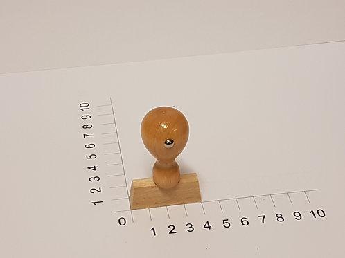 Holzstempel mit Zapfen 10 x 40 mm