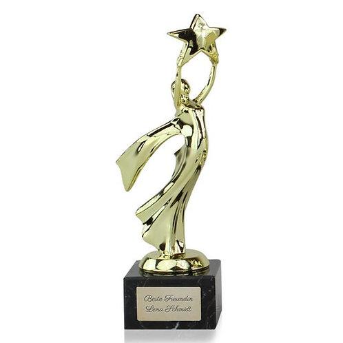 Siegerstatue Victoria mit Gravur, oscar figur mit gravur, Pokal