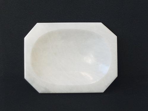 Seifenschale Marmor Weiss