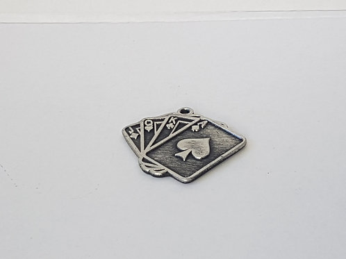 Medaille Spielkarten Silber